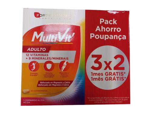 Vitaminas Multivit Forte Pharma 84 comprimidos