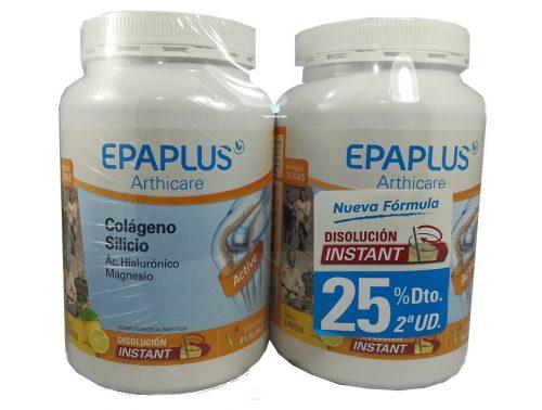 Epaplus pack 2 unidades colágeno con Hialurónico y magnesio sabor limón