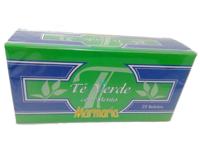 té verde con menta infusión