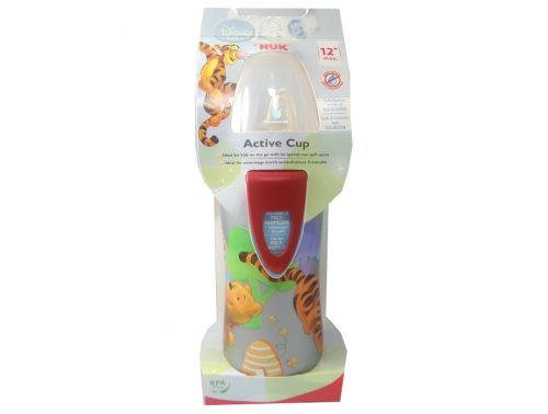 Biberón Entrena Active cup Silicona Rojo Winnie + 12 meses 300 ml