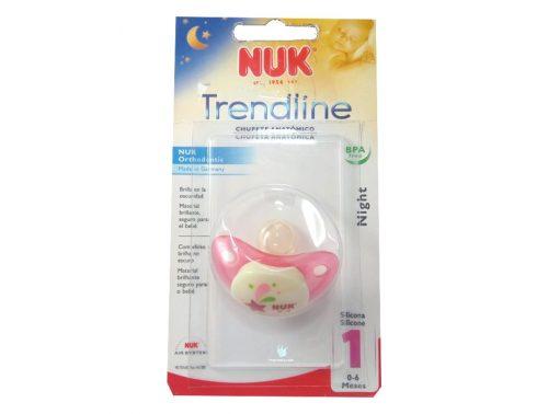 Chupete de Silicona Nuk 0 - 6 meses Brilla en la oscuridad Night Rosa