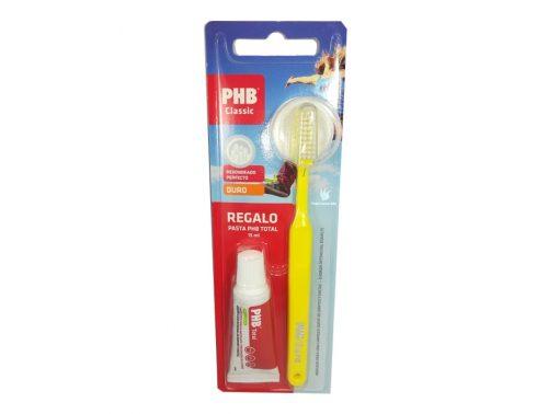 Cepillo de Dientes Duro PHB + Regalo de pasta de dientes Cuidado Total