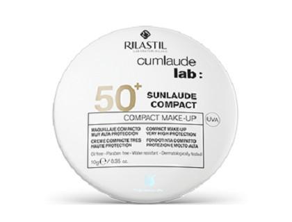 maquillaje compacto crema sunlaude con protección solar 50