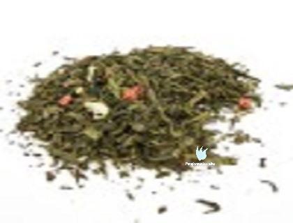 té verde fresa con nata