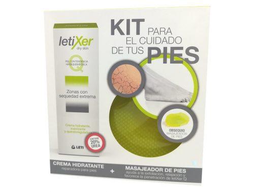 Kit para el cuidado de pies Letixer Crema sequedad extrema y masajeador de pies
