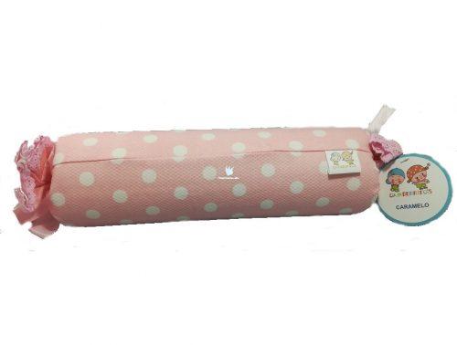 Cojín de pique con forma de caramelo Gamberritos disponible en rosa y azul