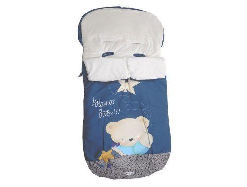 Saco Bebé impermeable azul oso universal