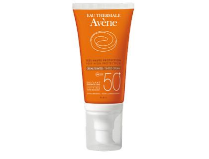 Avene Crema facial con color y protección solar factor 50+