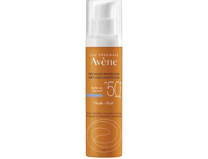 Protector solar facial en fluido Avène pieles sensibles normales y mixtas
