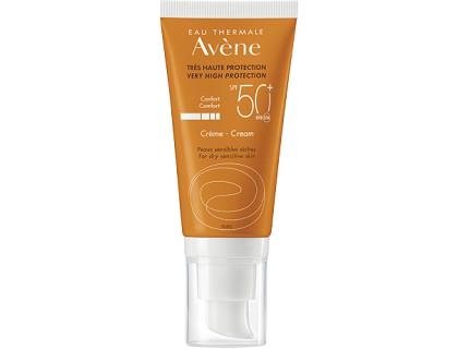 Avene protector solar facial factor 50+ para piel seca y sensible