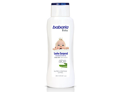 Babaria Leche corporal infantil pieles sensibles 400 ml