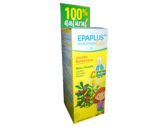 Jarabe balsámico infantil con miel y acerola Epaplus 150 ml