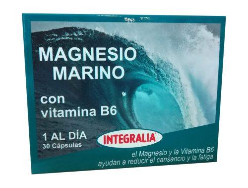 Magnesio marino con vitamina B6 Integralia 30 cápsulas