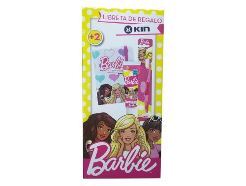 Pack dental infantil barbie Kin pasta, cepillo + libreta de regalo