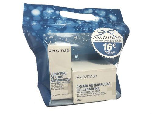 Pack de Crema antiarrugas rellenadora y contorno de ojos Axovital
