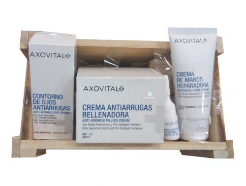 Cesta regalo Axovital con productos de cosmética