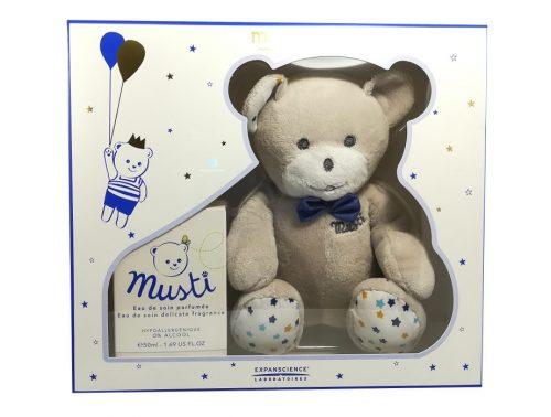 Pack Mustela perfume Musti con regalo de oso de peluche