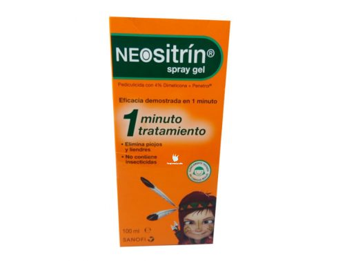 Neositrín spray gel tratamiento contra piojos y liendres