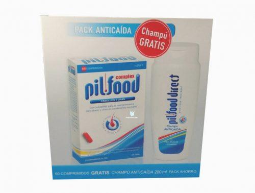 Pilfood Tratamiento anticaída 60 comprimidos + champú gratis