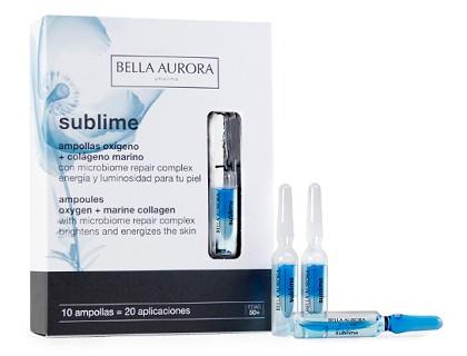 Las ampollas de colágeno marino + oxígeno Bella Aurora Sublime