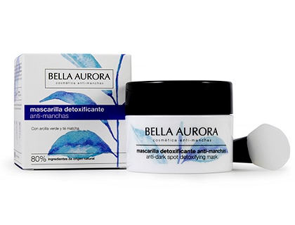 Mascarilla facial detoxificante antimanchas Bella aurora 75 ml