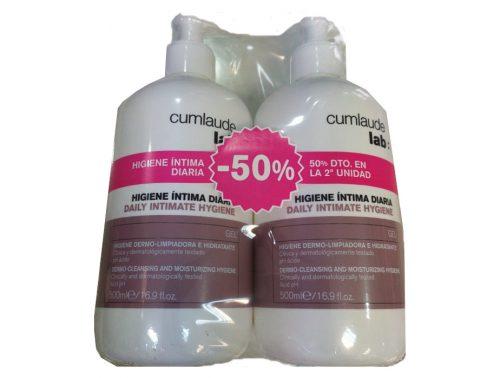 Cumlaude pack gel higiene íntima diaria 500 ml + 500 ml
