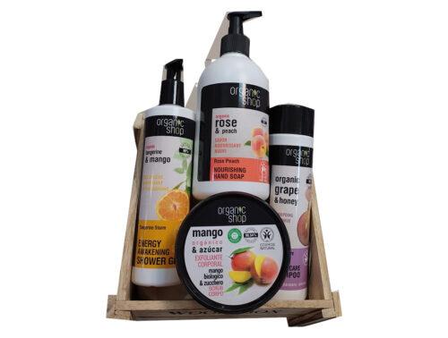 cesta regalo para aseo Organic shop