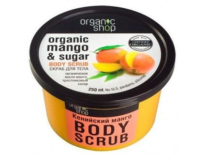 Exfoliante corporal de mango y azúcar Organic shop 250 ml