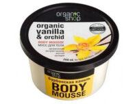 Mousse corporal de vainilla y orquidea Organic shop 250 ml